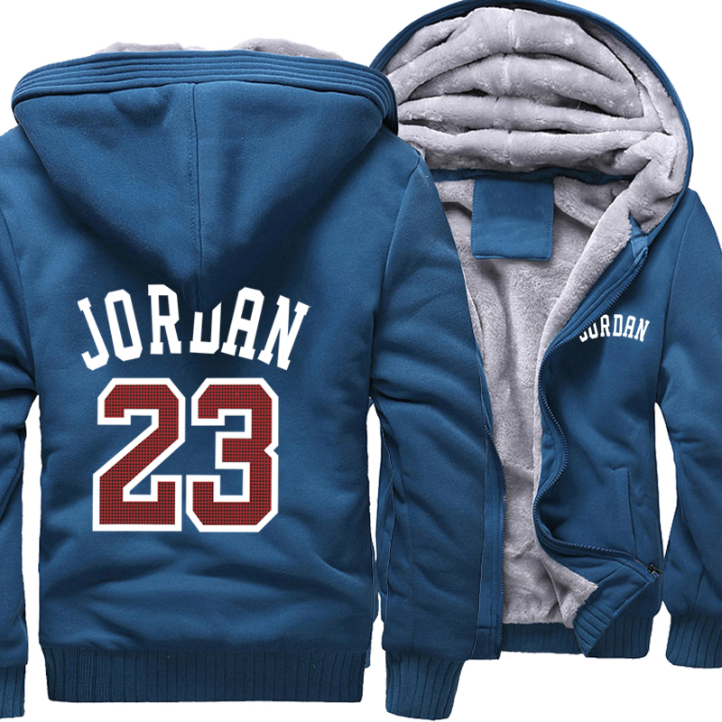 Men Hoodies Jordan 23 Thick Jacket 2019 Winter Sweatshirts Raglan Mens Streetwear Coat Thick Jacket Hip Hop Hoodies Harajuku