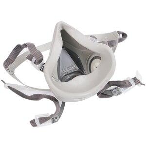 Image 4 - Maska gazowa przemysłowe pół twarzy malarstwo rozpylanie Respirator z okulary ochronne garnitur bezpieczeństwa pracy filtr wymienić 3M 6200