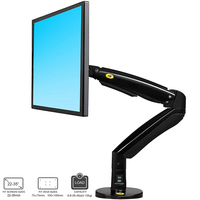 NB F100A Gas Spring Arm 22 35 inch Screen Monitor Holder 360 Rotate Tilt Swivel Desktop Monitor Mount Stand with USB Ports