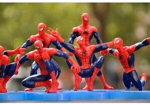 Фигурки героев мультфильмов Marvel, танос, Человек-паук, игрушки, декоративное украшение для детей, подарок на день рождения, торты, настольное украшение L73