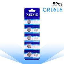 5 шт аккумуляторные батарейки cr1616 dl1616 ecr1616 lm1616 Литиевые