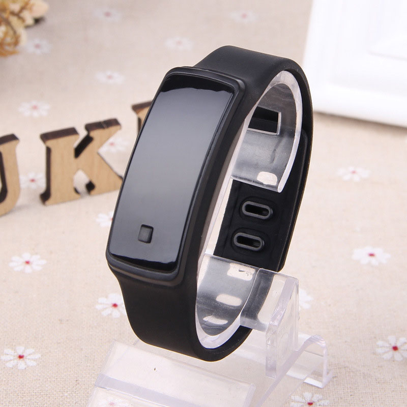 Fashion Children Jelly Color Smart Watch Student Silicone Bracelet Wristwatch Boy Girl Electron Watch Hour Date C247