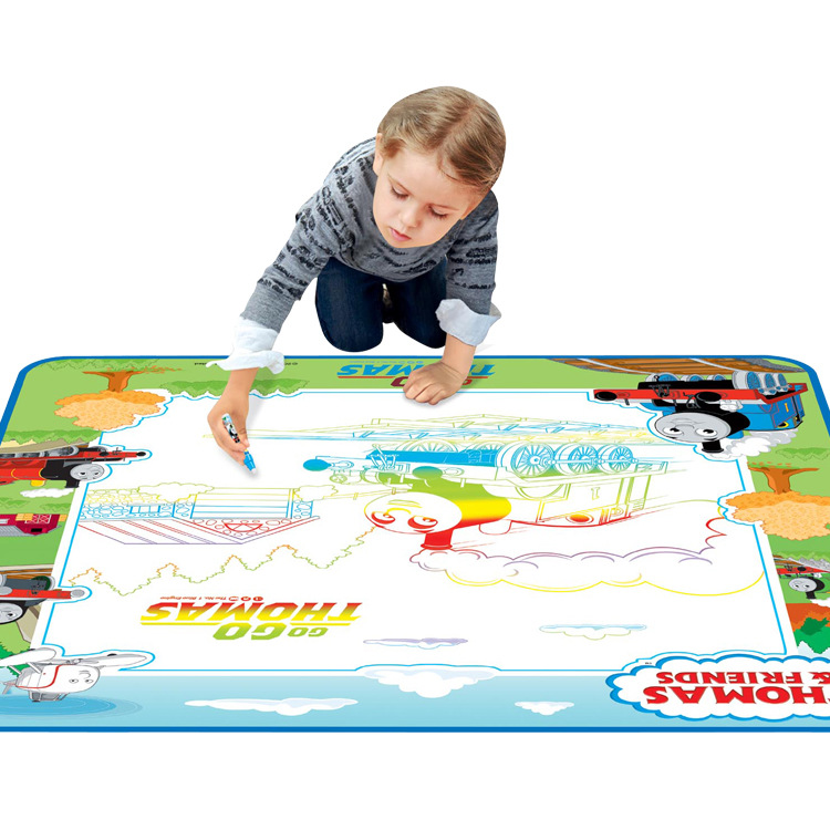 Hui Cheng Children Color Graffiti Thomas Drawing Board Canvas Multi-functional Educational Magical Drawing Board Toy Gift