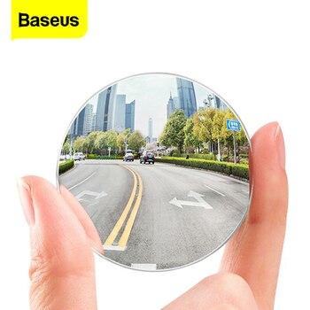 Baseus 2 uds coche punto ciego espejo de ángulo ancho espejo lateral para coche HD ronda Anti niebla retrovisor aparcamiento espejo convexo