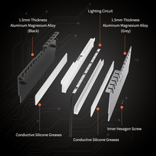 Cooling Cooler Spreader Heat Sinks Heatsink Accessories 2Pcs LED RGB PC Set Kit Computer RAM