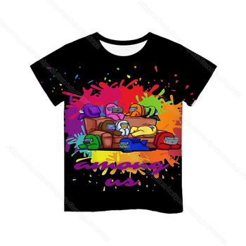 Cartoon Tee  Baby Kids Boys Girls Children Short Sleeves Summer Clothing Fashion 3d Print Toddler Camiseta 11