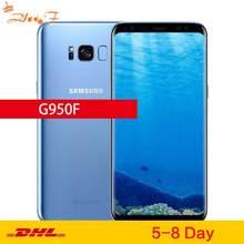 Orijinal Samsung Galaxy S8 küresel sürüm LTE GSM G950F cep telefonu Octa çekirdek 5.8