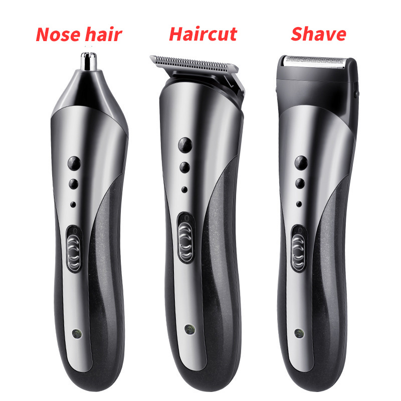 Kemei Professional Multifunction 3 In 1 Hair Clipper Rechargeable Electric Man Nose Hair Trimmer