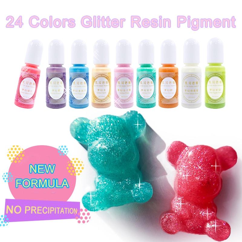 Crystal Epoxy UV Resin Adhesive Dye Pigment Multicolors Flashing Glue Handmade DIY Jewelry Making Crafts