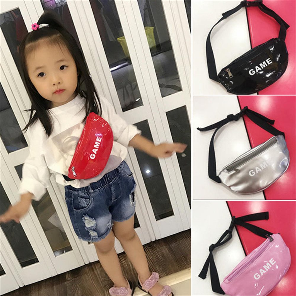 1Pcs New Hot Cute Colorful Children Waist Packs Kids Fanny Fashion  Packs Boy Girl Money Crossbody Chest Belt Bag High Quality