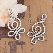 Fashion Celtic Simpul Liontin Seng Paduan Antik Perak Charm DIY Membuat Perhiasan Temuan Komponen 28 Mm X 15 Mm, 4 Pcs(China)