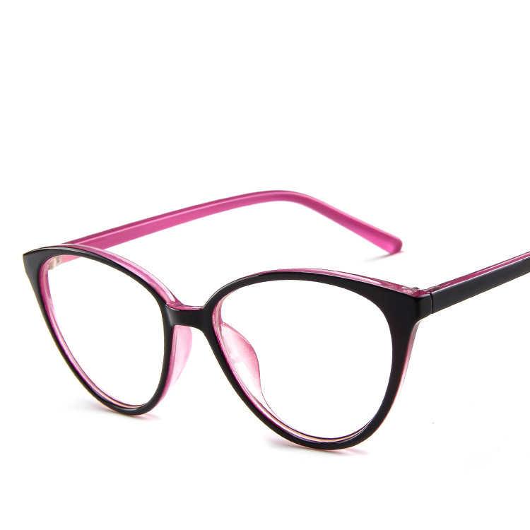 Retro das mulheres do vintage óculos de vidro quadro feminino lente clara marca designer óptica eyewear senhoras meninas nerd preto vermelho festa