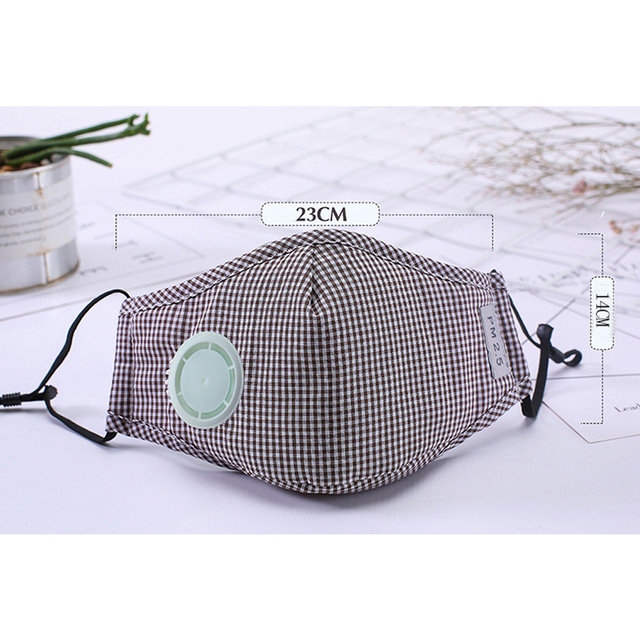 N95 Coronavirus Cotton Mask Anti Virus Dust Resuable Pm2.5 Activated Carbon Filter Insert Earloop Respirator Face Mask 3