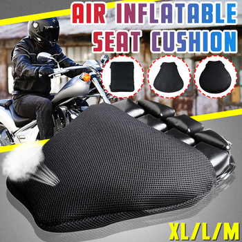 Universal Motorcycle Air Seat Cushion Cover 3D Inflatable Seat Cushion Antiskid Breathable shock absorption seat mat M/L/XL
