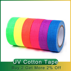 5/6 Rolls Fluorescent UV Cotton Tape Matt Night Self-Adhesive Glow In The Dark Luminous Tape For Party Floors Stages