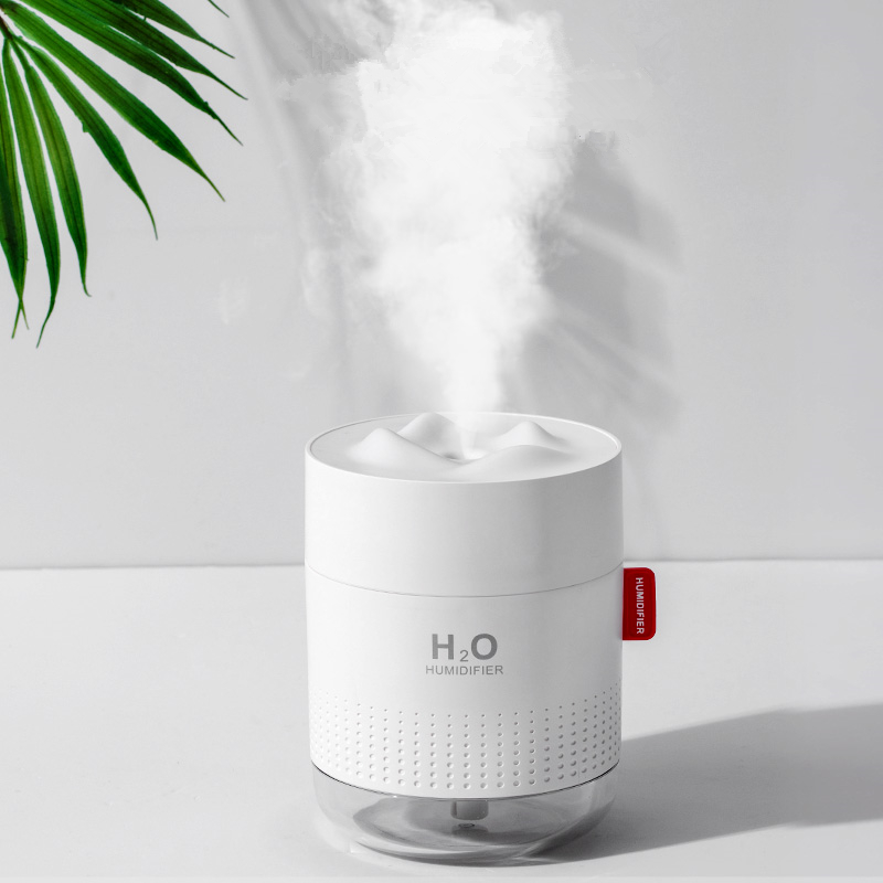 Ultrasonic Air Humidifier 500ML Snow Mountain USB Aroma Essential Oil Diffuser Heavy Mist Ultra Quite Humidificador Mist Difusor