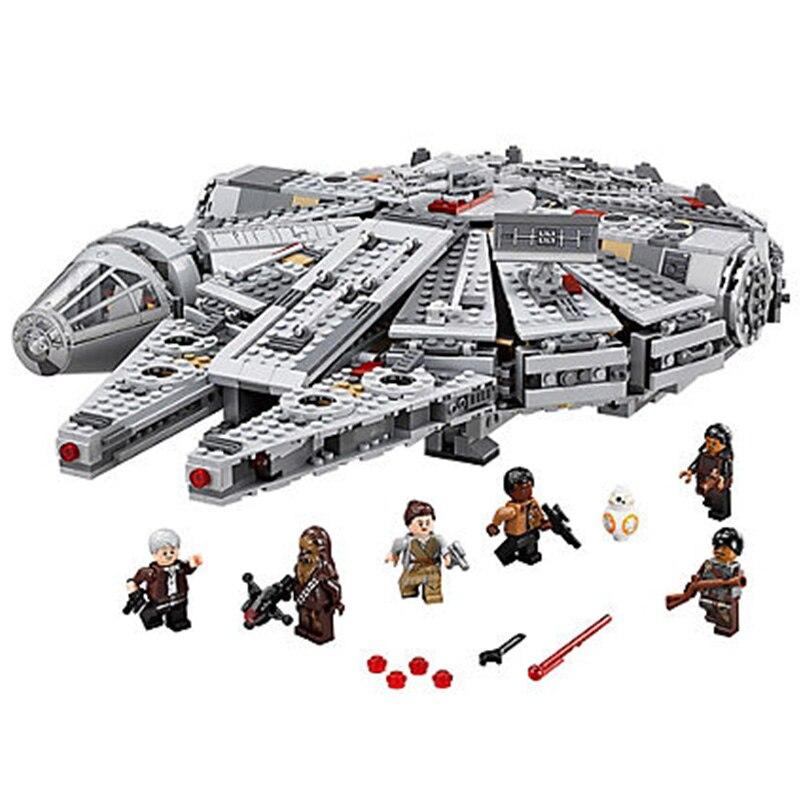 Star Wars Force réveille millénium Falcons solo mini figurine Compatible Legos modèle blocs de construction briques jouets pour enfants