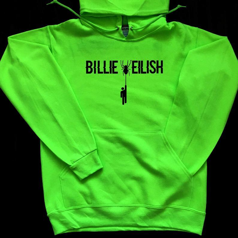 Billie Elish Spider Hoodie Women Men Don't Smile At Me Billie Eilish Hoodies Eilish Merchandise Woman Hoody Unisex Jogging Femme