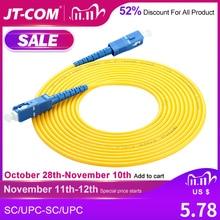 SC SC волоконно оптический патч корд SC/UPC SM SX 2,0 мм 3,0 мм 9/125um FTTH волоконные патч кабели одномодовый оптический Джампер Pigtail