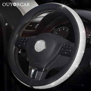 Protectors Interior-Accessories Steering-Wheel-Covers Crystal Rhinestone Girls Women