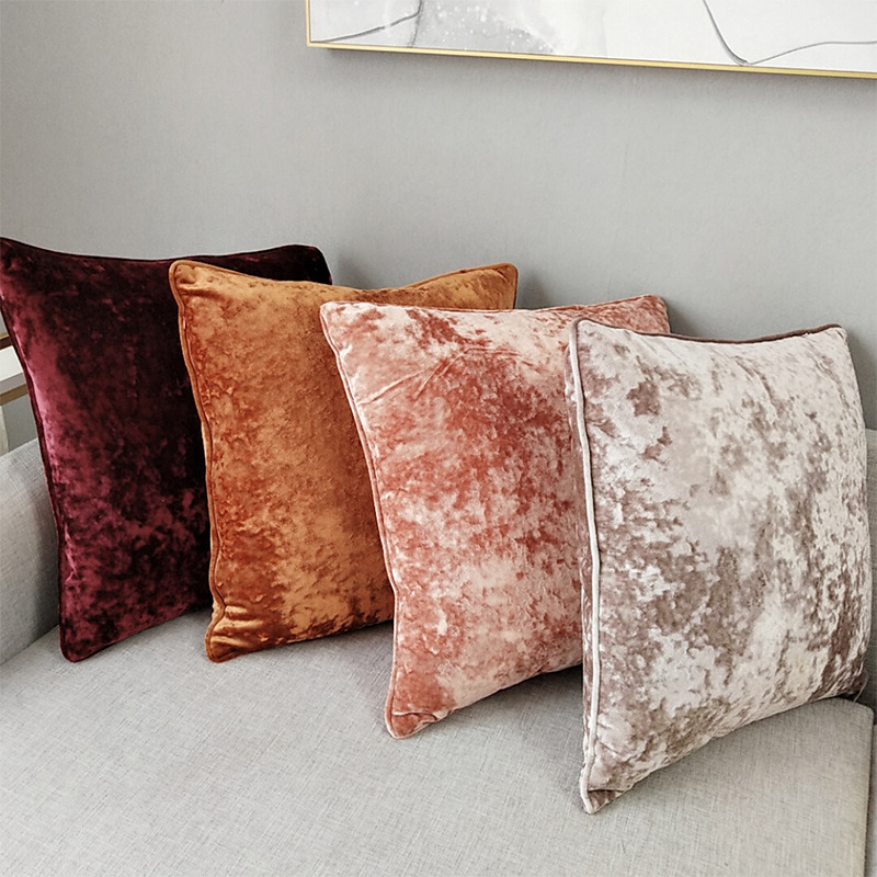 Ice Velvet Pillowcase Cushion <font><b>Cover</b></font> for Living Room Sofa Solid Color Throw <font><b>Pillow</b></font> Case Cushion <font><b>Cover</b></font> <font><b>Pillow</b></font> <font><b>Cover</b></font> Square <font><b>50x50cm</b></font> image