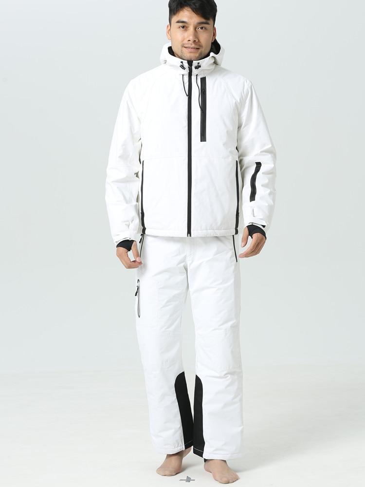 2019 Winter Ski Suit Men Outdoor Sport Winter Suit Men Snowboard Jackets Skiing Snow Clothes Snowboarding Sets Waterproof -30