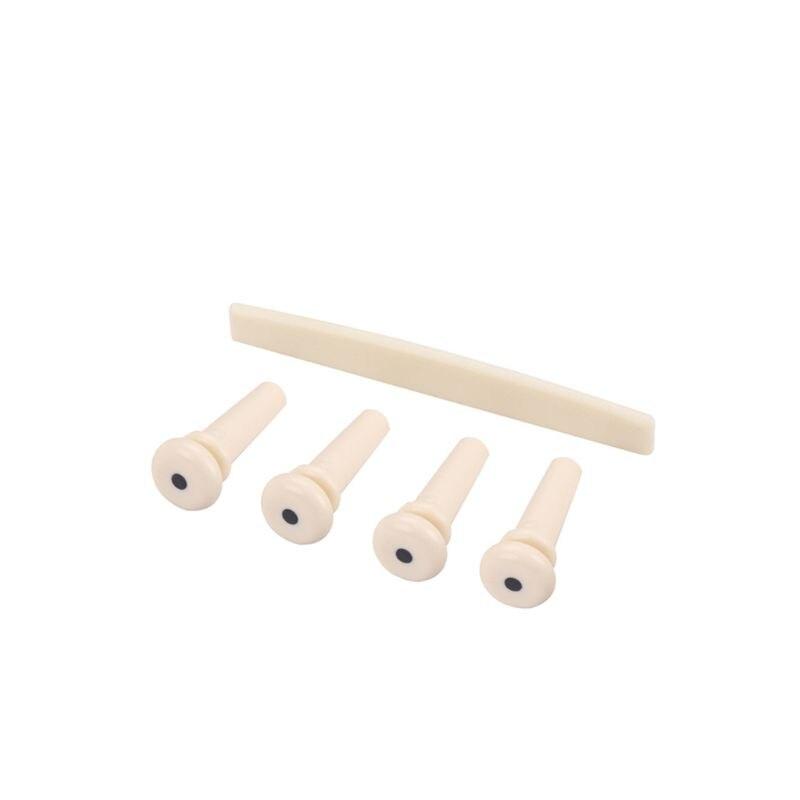 1 Set Bass Pin Saddle Plastic For Accoustic 4 String Bass Guitar Pin Bridge