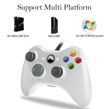 For Xbox 360 Microsoft USB Wired Controller PC Cellphone Joypad Gamepad Console Wired For XBOX360 Game Joystick alloyseed for xbox 360 wireless controller gamepad pc adapter gaming usb receiver for microsoft xbox 360 console with cd drive