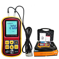 GM100 Ultrasonic Thickness Gauge Digital LCD Metal Thickness Gauge Sound Velocimeter 1.2 225mm(Steel)0.1mm Resolution Tester