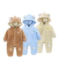 2018 Baby Onesies Men and Women Winter Out of The Thickening Quilted Coral Fleece Warm Crawling Clothes Bodysuits