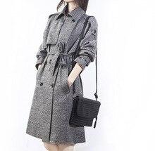 Brand New Winter Coat Women Long Hooded Woolen Overcoats Warm Bouble-breasted Female Jacket Cloak Windbreaker Women цена
