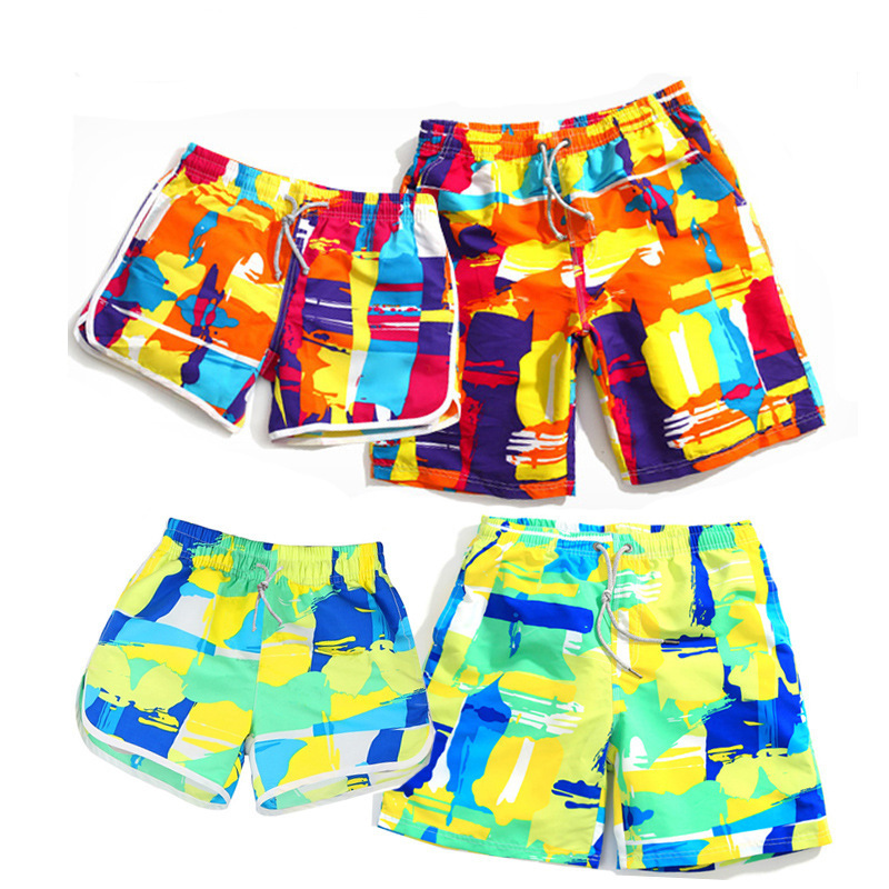2015 Summer Men Korean-style Loose-Fit Couples Beach Shorts Large Size Surfing Quick-Dry Men Shorts Shorts Summer Wear