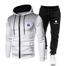 2021 Spring Men's Hooded Sweatshirt Two-piece Sports Brand Clothing Men's Fashion Sportswear Sportswear Hooded + Pants