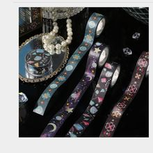 Masking-Tape Jellyfish Stones Gilding Scrapbooking Planet Moon Crystal DIY Sky Starry