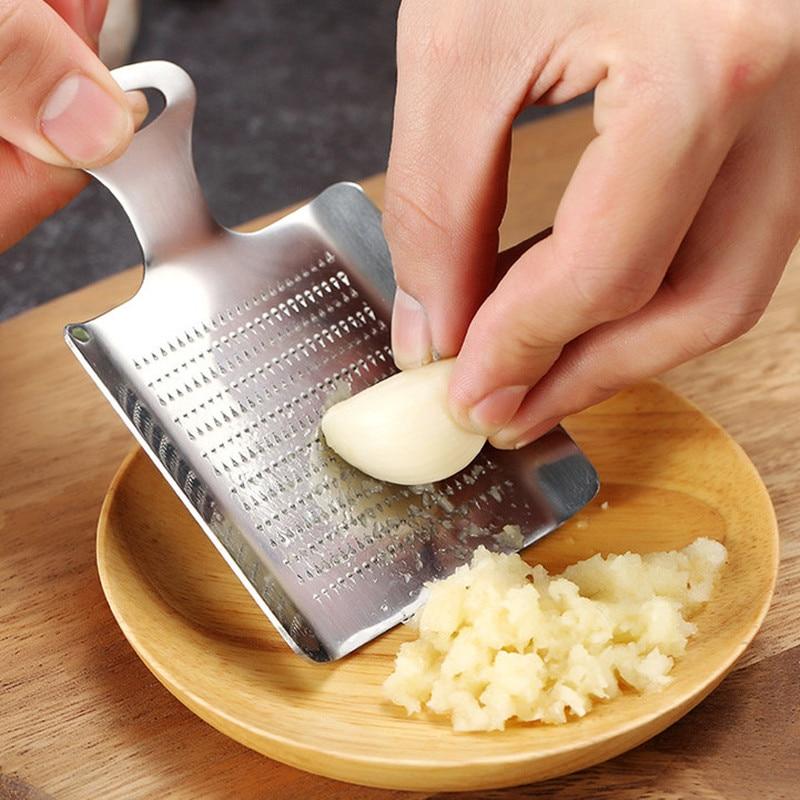 Stainless Steel Ginger Grater Spoon Garlic Press Kitchen Peeler New