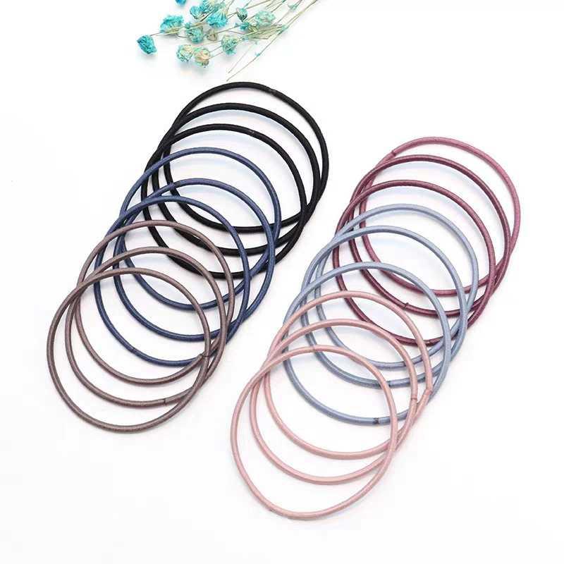 50pc Simple Scrunchies ผู้หญิงหญิงผมยางยืดอุปกรณ์เสริมสำหรับเด็กสำหรับเด็กผมแหวนเชือก Tie ผู้ถือหางม้า
