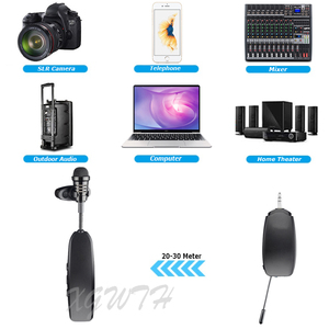 Image 2 - Draadloze Lavalier Microfoon Condensator Revers Kraag Clip On Microfoon Voor Audio Voice Versterker Camera Opname Telefoon Android Youtub