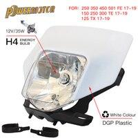 Farol da motocicleta cabeça lâmpada luz para husqvarna te 300 2018 te250 fe te tx fe350 250 350 450 501300 2017 2019