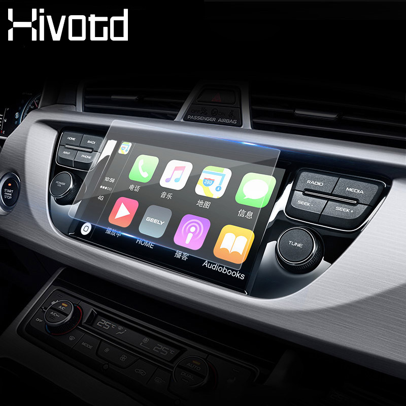 Hivotd For <font><b>Geely</b></font> <font><b>Atlas</b></font> Emgrand NL-3 Proton X70 Car Navigation Tempered Glass Screen Protective Film GPS Sticker Accessories <font><b>2019</b></font> image