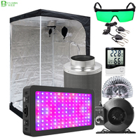 BEYLSION LED Grow Light Veg Bloom Grow Tent Box Kit LED Grow Tent Combo Kits With Carbon Filter And Fan For Hydroponics Plants