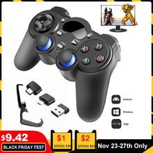 Kontroler 2.4G Gamepad Android Joystick bezprzewodowy Joypad z konwerter OTG na PS3/inteligentny telefon na Tablet PC Smart TV Box