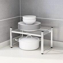 304 Stainless Steel Kitchen Storage Rack for Spice Jar Pot Pan Accessories Orginizer Shelf Plate Dinnerware Holder Container