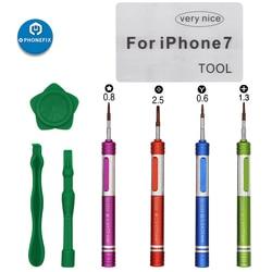 Zestaw mini śrubokręt wkrętak philips 0.8mm Pentalobe wkrętak do iphone'a 7 zestaw naprawczy narzędzie do otwierania zestaw naprawczy ekranu w Zestawy narzędzi ręcznych od Narzędzia na
