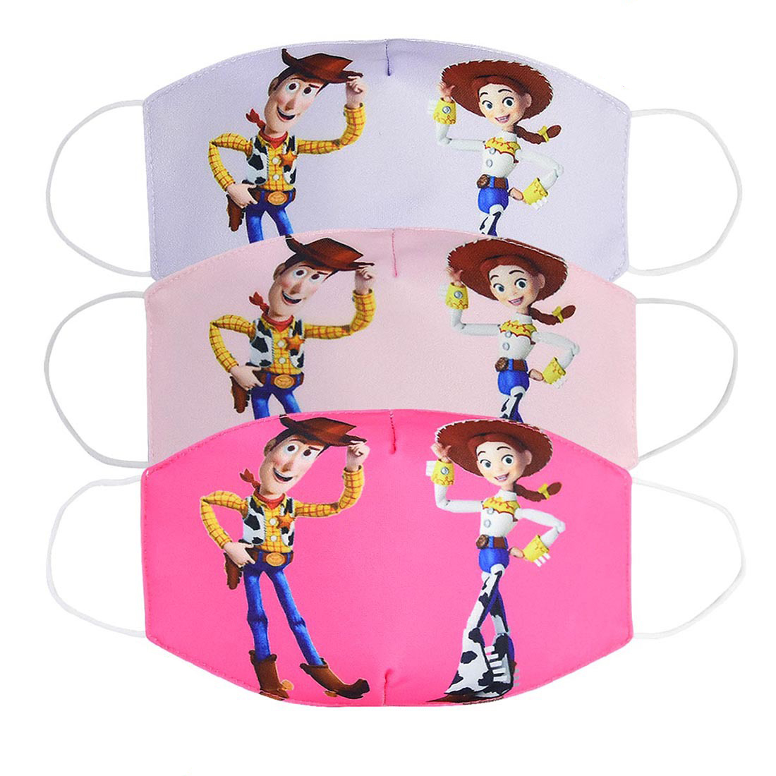 Cartoon Toy Story Mouth Mask Child Dust-proof Breathable Mask Funny Printed Mask For Kids Adult Cotton Mouth Face Masks