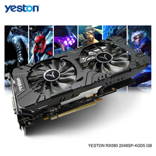 Yeston Radeon RX 580 GPU 4GB GDDR5 256bit Gaming Desktop computer PC Video Graphics Karten unterstützung DVI/HDMI PCI-E X16 3,0
