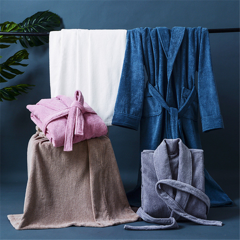 Couples Homewear Winter Lengthen Robe Men Women Toweling Terry Hooded Robe Cotton Bathrobe Soft Bata Novia Sleeprobe Casual