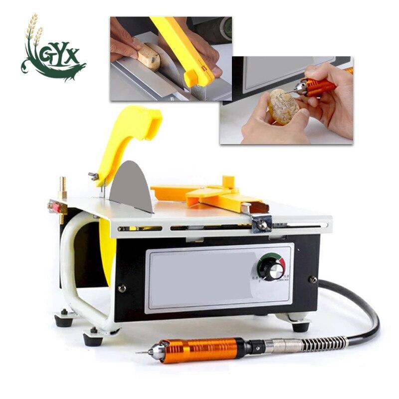 1280W multifunctional desktop grinder high-power jade engraving machine grinding machine polishing machine woodworking table saw