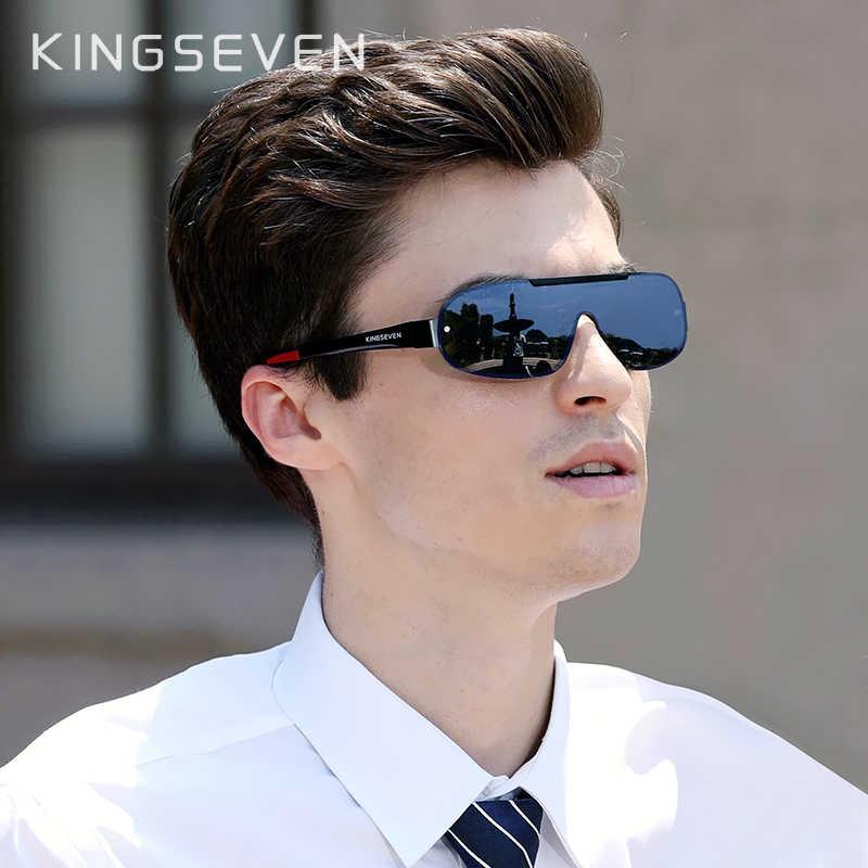 KINGSEVEN, дизайнерские новые алюминиевые мужские брендовые солнцезащитные очки, поляризационные солнцезащитные очки с интегрированными линзами, очки ночного видения для вождения