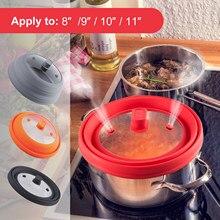 Couvercle universel pliable à micro-ondes pour casseroles et poêles convient aux ustensiles de cuisine de 8