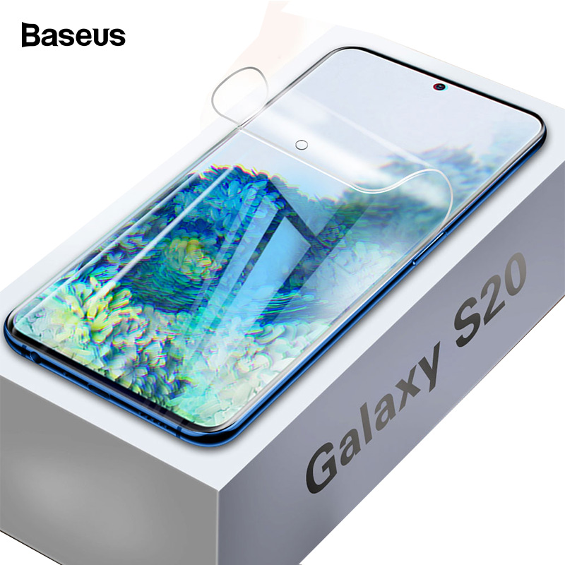 Baseus 2 Pcs 0.15mm Screen Protector For Samsung Galaxy S20+ S20 Soft Cover Film For Samsung S20 Ultra Full Protective Film